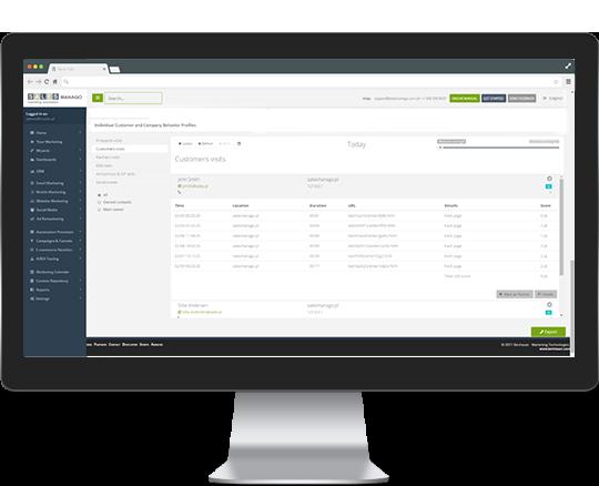 Monitorowanie zachowanie klientów na stronie www